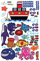 World under the sea and ship wall stickers