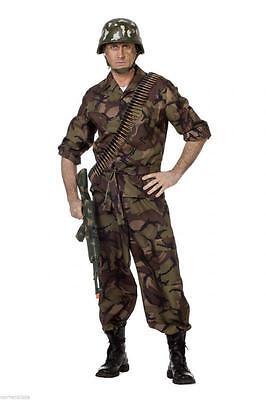 Soldat Ranger Armeekostüm Rambo Armee Uniform Söldner Herren Kostüm Tarnanzug