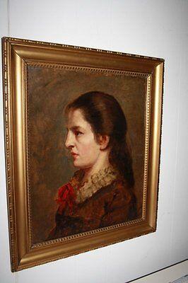 """Gemälde Öl auf Leinwand """"Portrait einer Spanierin"""" gerahmt, unsigniert   /a152"""