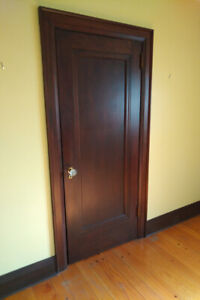 Antique Door - Indoor, All Wood, Pre-Drilled For Antique Knobs