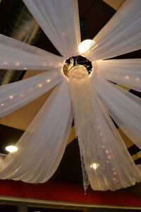 CEILING DRAPES/SHEER DRAPING