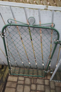 Chain Link Gate - 36(w) x 48, Galvanized Painted Green, Vintage
