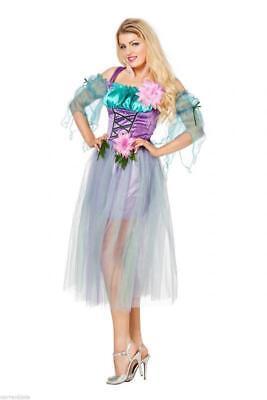 Feen Fee Elfe Tinkerbell Märchenfee Kostüm Kleid Elfen Damen Waldfee (Lila Tinkerbell Kostüm)