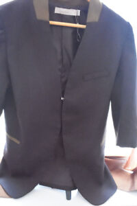 Black with army green accents blazer - like new free delivery