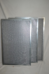 3 Metal Frame Permanent Washable Air Filters 16 x 25 x 1