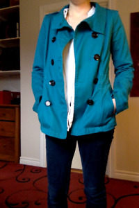 Divided Turquoise Peacoat