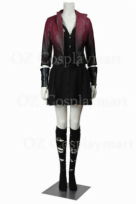 Avengers: Age of Ultron Scarlet Witch Wanda Superhero Halloween Cosplay Costume](Ultron Halloween Costume)