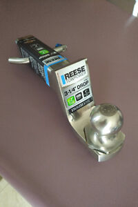 All stainless steel brand new Reese trailer ball hitch