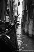 Black and White Venetian Canals photo