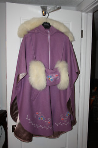 Canadian Made: Wool Cape with hood/muff