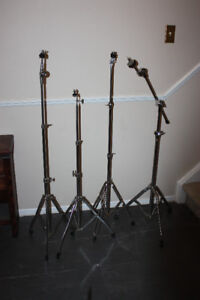 FOUR STANDS FOR SALE THREE STRAIGHT ONE BOOM
