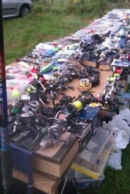 fishing tackle stall over 500 rods,n,reels u wont believe whats here ,loads of it