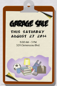 Garage Sale.3211 Clemenceau Blvd. Sat. 9am -3pm