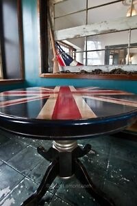 UNION JACK  ROUND  DINING  TABLE Kingston Kingston Area image 3