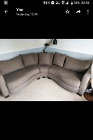 Designer Corner sofa in thick material.