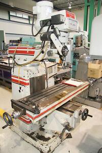 vertical milling machine  R8 10x50 table 220 volt 3hp