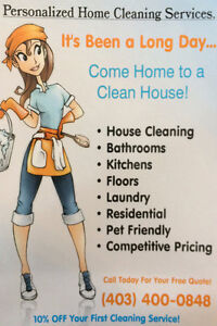 Need house cleaning ? call us first -403-400-0848 best rates!
