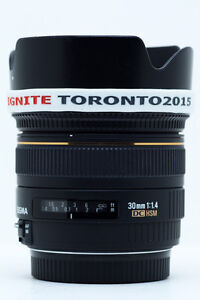 Sigma 30mm f/1.4 EX DC HSM Lens For Canon