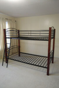 Moving Sale.  Wood and Metal Bunk Bed