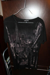 cotton shirt with paris skyline