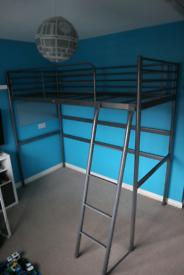 Ikea Svarta Loft bed frame, silver colour