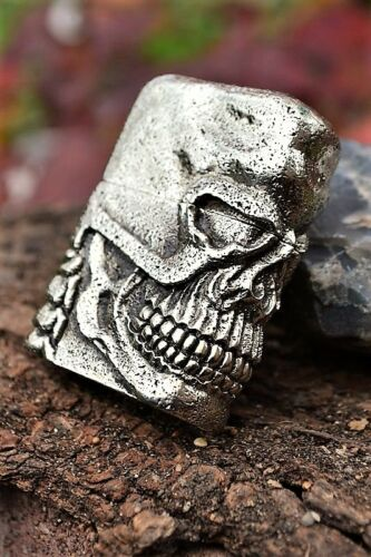 Japanese Zippo Lighter - Japan - Skull Jacket - Antique Silver - Limited Edition