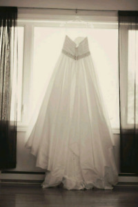 Size 20 strapless wedding dress with pockets