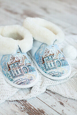 Russian Fur Slippers Natural Sheepskin