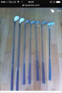 Sac et bâtons de golf pour femme