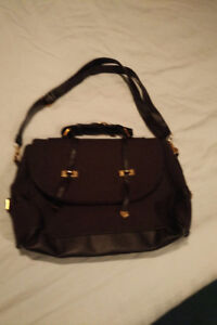Black cloth shoulder bag