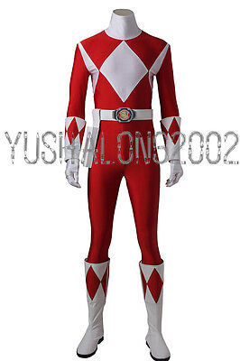 Mighty Morphin Power Rangers ZYURANGER Geki Rot Cosplay Kostüm Costume - Morphin Power Ranger Kostüm
