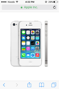 Unlocked white iPhone 4s 8g