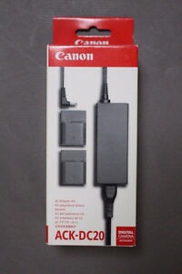 Canon OEM Camera AC adaptor kit ACK-DC40 – Brand New