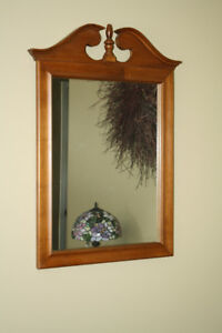 Honey Toned Colonial Mirror