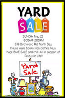 Yard Sale May 22nd