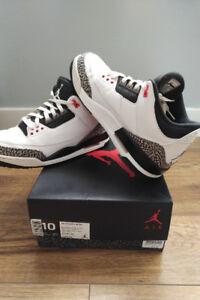 "Retro Air Jordan 3 ""Infrared"" - Size 10"