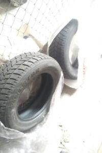 2x winter tires - Kingstar w411. $120.  195/65/r15. 9/32.