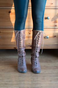 Tall Lace-Up Boots by Seychelles