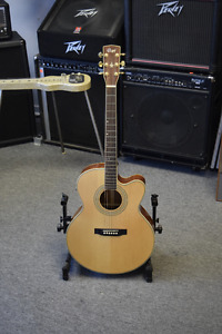 Cort SJ-5X Acoustic Electric Guitar with Hard Shell Case