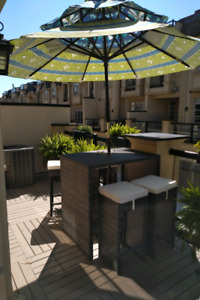 Outdoor Bar Height Table and Stools