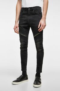 ---ZIPPED BIKER JEANS-BRAND NEW with tags----