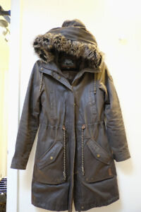 [USED] Roots Balfour Field Jacket Coat Parka Barbour Brown