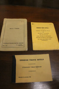 CANADIAN PACIFIC HOTELS VINTAGE MANUALS (booklets)