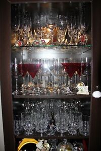 TV credenza with curio cabinet! Excellent condition!