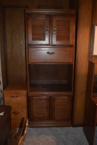 Vilas Maple in Candlelight Finish - Wall Unit/Entertainment Unit