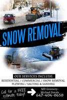 SNOW REMOVAL SERVICES! GREAT PRICES!