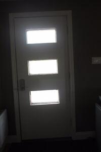 Negociable!!!! Porte d'entrée double en bois 3 vitraux