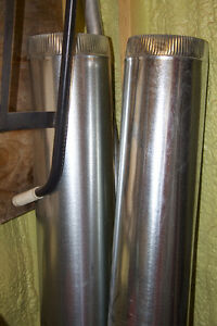 """6"""" x 60"""" galvanized duct pipes new"""
