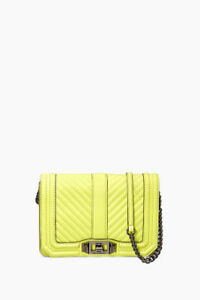Rebecca Minkoff Love Crossbody Neon Yellow New w/Tags Bag/Purse