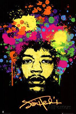 Jimi Hendrix Poster Print 24x36 Rock & Pop Music